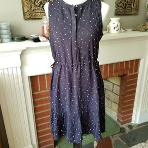 BNWT LOFT Starry Night Tie Waist Dress